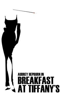 film, movi poster, art, audrey hepburn, breakfast at tiffanys, tiffani theme, design, minim movi, minimal movie posters