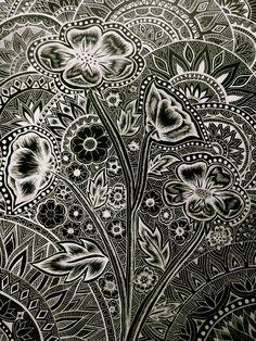 scratchboard flowers