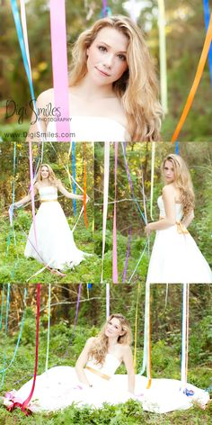 Streamers! what a cute idea! Artsy and vintage Senior Photography. Digi Smiles Photography