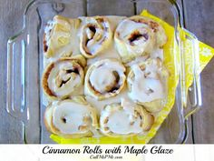 The Pioneer Woman Cinnamon Rolls {kind of} with Maple Glaze - Call Me PMc