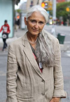 old age, gray hair, fashion, ageless beauti, long hair, street styles, ageless beauty, hair looks, bright colors