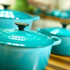le creuset in caribbean blue available at eggshellskitchencompany.com! http://bit.ly/1eGopTt