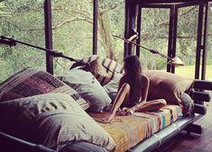 pillow, sleeping porch, window, dream, cushion, hous, bohemian style, bedroom, loung