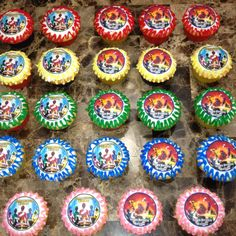 Power Ranger Cupcakes