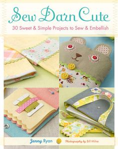 Sew Darn Cute #sewing #book - LOVE it - I need something like this for some of my notions. Great project idea and you get to practice sewing while you make your organizer.