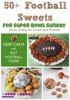 Over 50 Football Sweets for Super Bowl Sunday from www.crazyforcrust.com and friends! #football