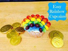 Easy Rainbow Cupcakes #recipes