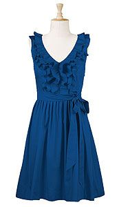 Pretty fun blue dress.