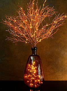 Lighted Coppper Coral Willow Branch 72 Bulb Electric - 39 Inch