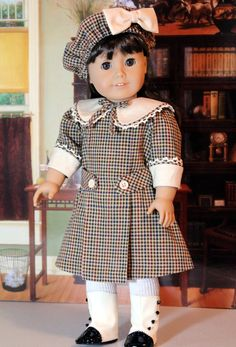 Middy Dress and Hat for Samantha or any American Girl Doll