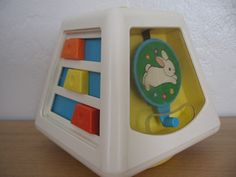 Vintage 1970s Fisher Price Toy: Multi-Activity Plastic Baby Toy