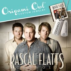 Today is the Day!!! Purchase your Limited Edition Changed Tag along with the Rascal Flatts Single or Album!!  Also available for purchase is a mens Chain, so now Men can wear the Changed Tag!!  Check it out the Changed Tag line