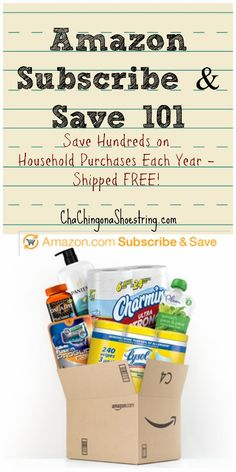 Secrets to making the most of Amazon's Subscribe & Save program.  All you need to know to save hundreds on your favorite household items each year! I love that they are shipped FREE to my door.