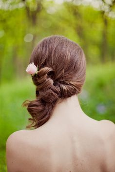 Side twisted pony Wedding Hair wedding accessories, bridesmaids, bridesmaid hair, weddings, dresses, wedding hairs, fashion hairstyles, hair style, hair idea