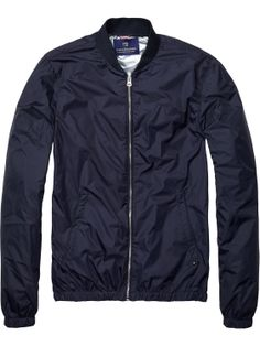 Style focus - The new retro lightweight bomber jacket from Scotch and Soda is the on trend Spring look of the moment  Available exclusively in store.