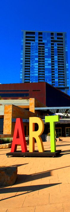 ART CITY AUSTIN 2014 ART sign, credit Babak Pejman Aruan