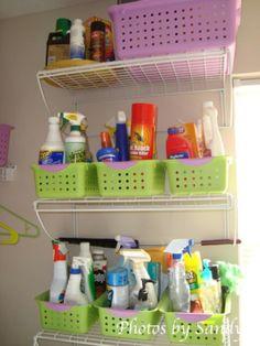 organizing ideas, laundry organization, diy crafts, shelving units, basket, laundry rooms, laundry room organization, laundri room, cleaning supplies