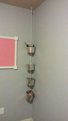 craftroom2  paint buckets for storage