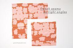 Grainline Studio | French Seams on 90 Degree Angles