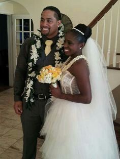 Jon and Trinity on there wedding day