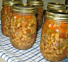 Ham Bean Soup and other canned recipes using meat and poultry