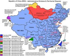 Republic of China (1911 - today) - (source: Taiwan ROC): ROC claimed sovereignty to Xinjiang, Taiwan, Mongolia, Tibet, although within this ...
