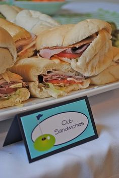 Golf Birthday Party Food Ideas