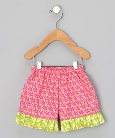 Take a look at this Pink Tulips Ruffle Shorts - Infant, Toddler & Girls by Sew Me a Memory on #zulily today!
