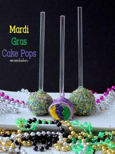 Mardi Gras Cake Pops - Pint Sized Baker