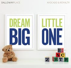 Baby Boy Nursery Decor Boy Nursery Art Kids by DallowayPlaceKids