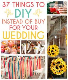 37 Things To DIY Instead Of Buy For Your Wedding- candles in the terra cotta pot would be perfect for garden themed wedding.