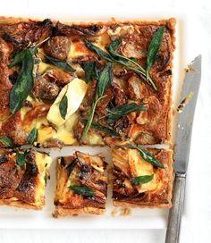 MiNDFOOD - Roasted Onion, Artichoke, Brie and Walnut Tart