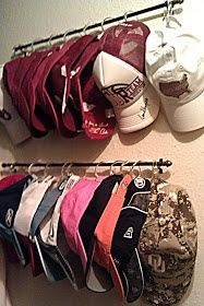 shower hook, organ, curtain rods, hous, closet, shower curtains, baseball caps, scarv, hat