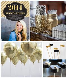 Graduation Party Inspiration Board on the Tinyprints Blog #graduation #party