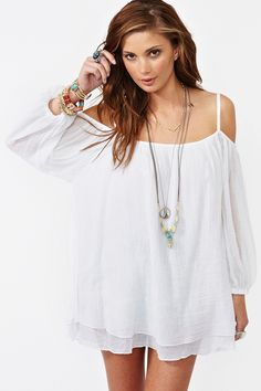summer styles, summer dresses, hair coloring, cloth, beach outfits, the dress, little white dresses, shoulder dress, cold shoulder