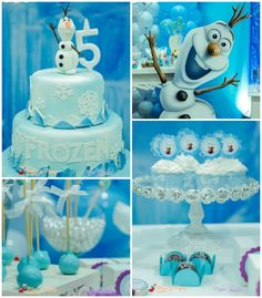 Frozen themed birthday party with Lots of Cute Ideas via Kara's Party Ideas! Full of decorating tips, cakes, cupcakes, favors, games, and MORE! #frozen #frozenparty #disneysfrozen #partyplanner #eventstyling #partydecor (2)