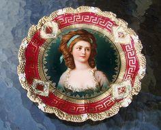 "RS Prussia 1900's Portrait Plate ""Countess Potocka"""