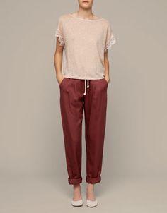 Pleated pants - Beachwear Collection - Romania