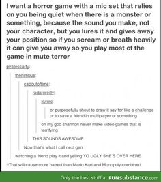 Can this be a thing? I would so play a game like this :D