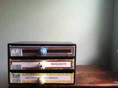 cigar boxes converted into cool storage