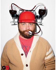 Drinkin' wine from a helmet...classy.