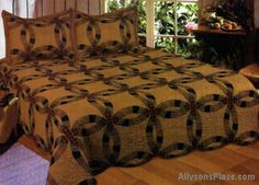 Layla Wedding Ring Bedding Quilted Combo / Like us on Facebook!  www.facebook.com/allysonsplacedecor / #Primitive
