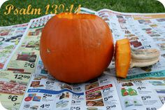 Amazing way to teach your children about Jesus while you carve your pumpkin.