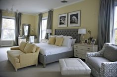 Grey And Yellow Bedroom 1024x679 Yellow Bedroom Ideas