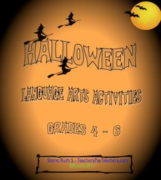 BOO! All kinds of Halloween Language Arts Activities for grades 4 -6!