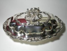 Vintage WalkerHall Ltd Silver Plated Covered Entree by borahstyle, $60.00