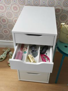 An organized and functional entrance is easy with a designated station for all your stuff, like the ALEX drawer unit.
