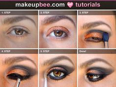 Step-By-Step Tutorial for Rust smokey eyes