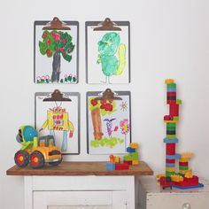 Displaying children's artwork