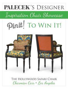 REPIN and VOTE to #win this PALECEK Designer Inspiration Chair: http://www.rafflecopter.com/rafl/display/59de950/